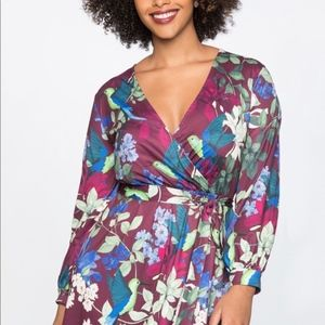 Eloquii Hummingbird Maxi Wrap Dress